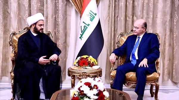رایزنی رئیس جمهور عراق و دبیر کل جنبش نجباء درباره اوضاع این کشور