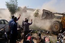 ساخت و سازهای غیرمجاز در اراضی کشاورزی ورامین تخریب شد
