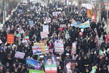 نمایش همبستگی و وفاداری به انقلاب در راهپیمایی 22 بهمن مردم سلماس