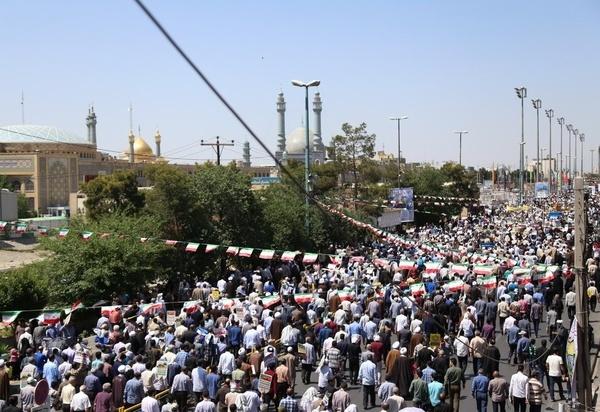 برگزاری پرشور راهپیمایی روز قدس در قم