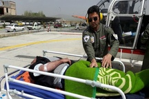 اورژانس هوایی الیگودرز برای نجات بیمار 60 ساله به پرواز درآمد