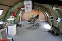 برپایی بیمارستان صحرایی شهید حججی در لردگان
