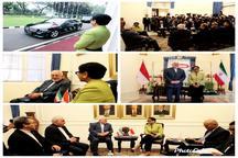 دیدار و گفتگوی وزرای امور خارجه جمهوری اسلامی ایران و اندونزی