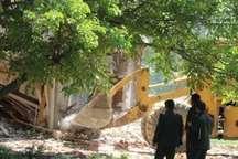 6 بنای فاقد مجوز در اراضی کشاورزی ماکو تخریب شد