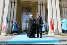 استقبال رجب طیب اردوغان از رییس جمهور روحانی