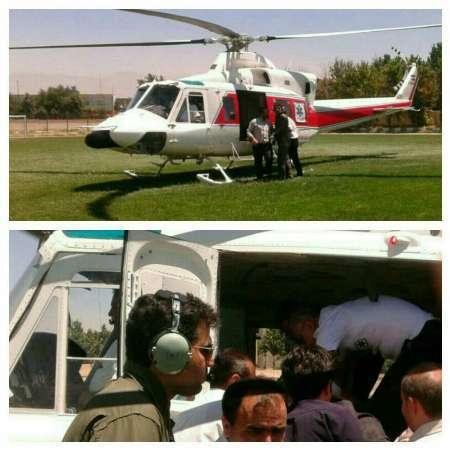 انتقال هوایی دوچرخه سوارمصدوم 73 ساله  البرزی به بیمارستان