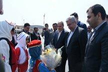 وزیر نیرو برای افتتاح چند طرح وارد گلستان شد