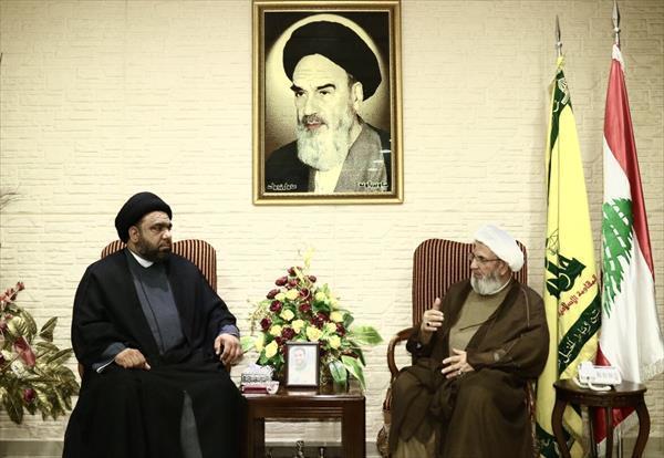 دیدار فرستاده ویژه دبیرکل نُجَباء با مقامات حزب الله + عکس
