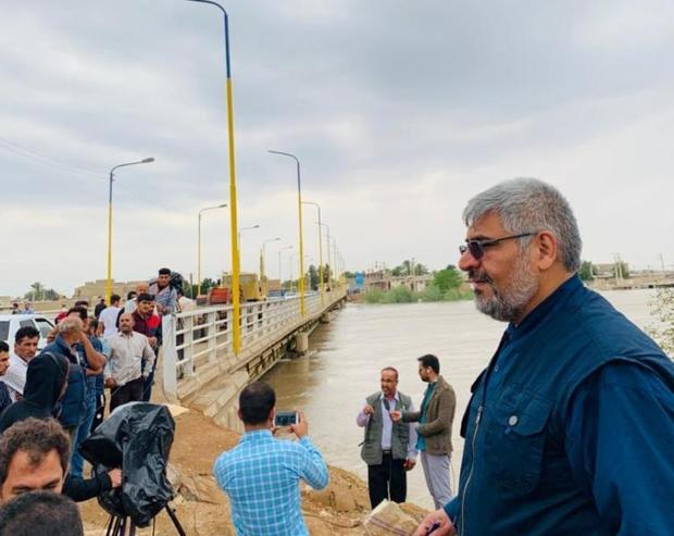 بحران سیل در حمیدیه مدیریت شده است