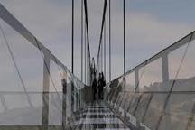 کلنگزنی اولین پل معلق تمام شیشهای در هیر