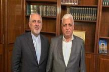 دیدار ظریف با رئیس الحشد الشعبی در تهران