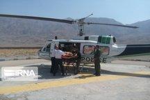 اورژانس هوایی شاهرود بیمار ساکن در یکی از روستاهای کالپوش را نجات داد