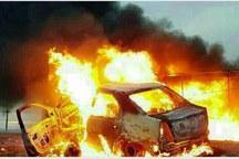 6 تن از سرنشینان خودروی سواری هرمزگان در آتش سوختنند