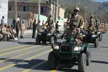 مراسم رژه نیروهای مسلح در مریوان برگزار شد+تصاویر