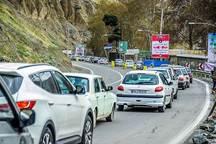 اعمال محدودیت ترافیکی درجاده کرج- چالوس