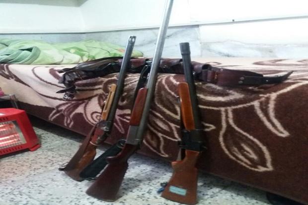 سه شکارچی متخلف در حاشیه سد سردشت دستگیر شدند