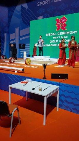 محمدپور در عشقآباد طلای المپیک گرفت + عکس