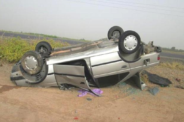 واژگونی پژو 405 در یاسوج 6 مصدوم در پی داشت