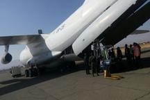 40 تن اقلام دارویی سازمان بهداشت جهانی در فرودگاه کرمانشاه تخلیه شد