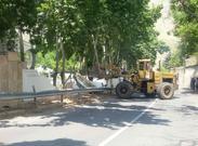 تصاویر تخریب ویلای لوکس در کرج توسط لودر