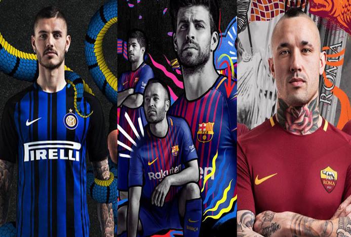 پیراهن های باشگاه فوتبال اروپا در فصل جدید 2017-2018