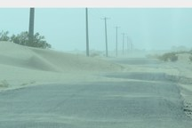 توفان شن محور ریگان به نرماشیر را مسدود کرد