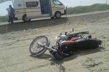 تخلف موتورسیکلت سوار در گنبد حادثه آفرید مصدومیت چهار نفر