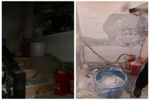 انفجار بر اثر نشت گاز مایع در خیابان دامپزشکی تبریز