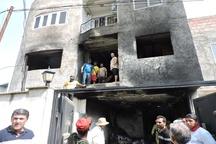 ذخیره سازی بنزین ، خانه ای در ساری را به آتش کشید