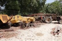 انبار تجهیزات قاچاق حفاری چاه های نفت در اهواز کشف شد