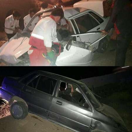واژگونی 2 دستگاه خودرو در محور استان سمنان 6 مجروح بر جا گذاشت