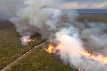 ادامه آماده باش برای مهار آتش سوزی در جنگل ها  2 بالگرد در اهواز مستقر شد