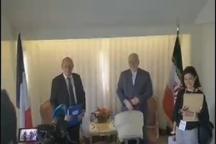 دیدار ظریف با وزیر خارجه فرانسه در نیویورک