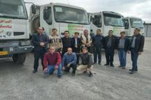 ارسال ماشین آلات بنیاد مسکن آذربایجان شرقی به مناطق سیل زده