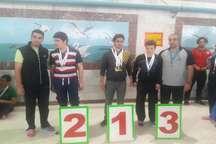 درخشش نابینایان و کم بینایان البرزی در مسابقات کشوری شنا