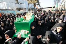 زنان نوغان پیکر نمادین حضرت امام رضا (ع) را تشییع کردند