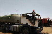 آتش سوزی تانکر ویژه حمل فراورده های نفتی در کرمان مهار شد