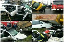 تصادف در جاده پیربازار رشت سه مصدوم بر جا گذاشت