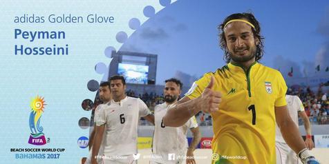 دروزاه بان تیم ملی فوتبال ساحلی در راه پرتغال