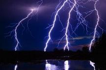 بارندگی همراه با رعد و برق در خراسان جنوبی