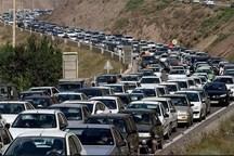 ترافیک درمسیرهراز سنگین است