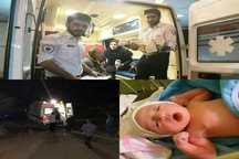 نجات جان مادر باردار در منطقه صعب العبور روستای دلزی  سلماس
