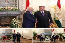ژست جالب رئیسجمهور تاجیکستان در دیدار با ظریف + عکس