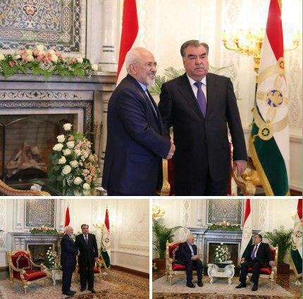 ظریف با رئیس جمهور تاجیکستان دیدار کرد عکس