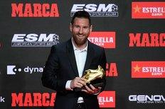 مسی ششمین کفش طلای اروپا را کسب کرد
