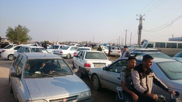 جاده آرامستان خرمشهر مسیری که عبور از آن صبر ایوب می خواهد