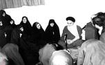 امام خمینی: از دامن زن مرد به معراج می رود
