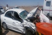 سانحه رانندگی  در مبارکه 6 مصدوم داشت