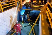 سقوط خودرو در مشهد دو مجروح برجای گذاشت