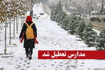 مدارس طالقان و بخش آسارا دوشنبه  تعطیل است